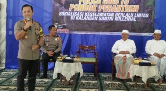 Sosialisasi Keselamatan Berlalulintas, Polda Banten Goes To Pondok Pesantren